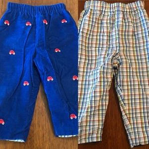 Embroidered reversible pants
